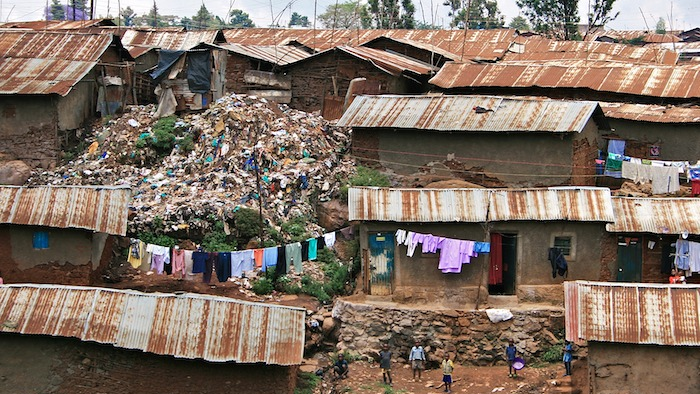 Kibera, a slum neighborhood in Nairobi, Kenya. (Source:  Wikimedia Commons )