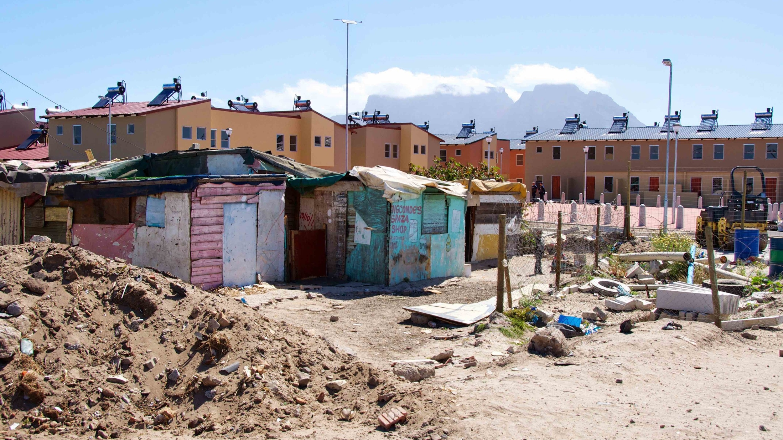 In performance reporting, housing projects are sometimes repackaged as informal settlement upgrading. (Source:Niels Frydenholm, Google Plus Images CC, 17 Nov 2014)