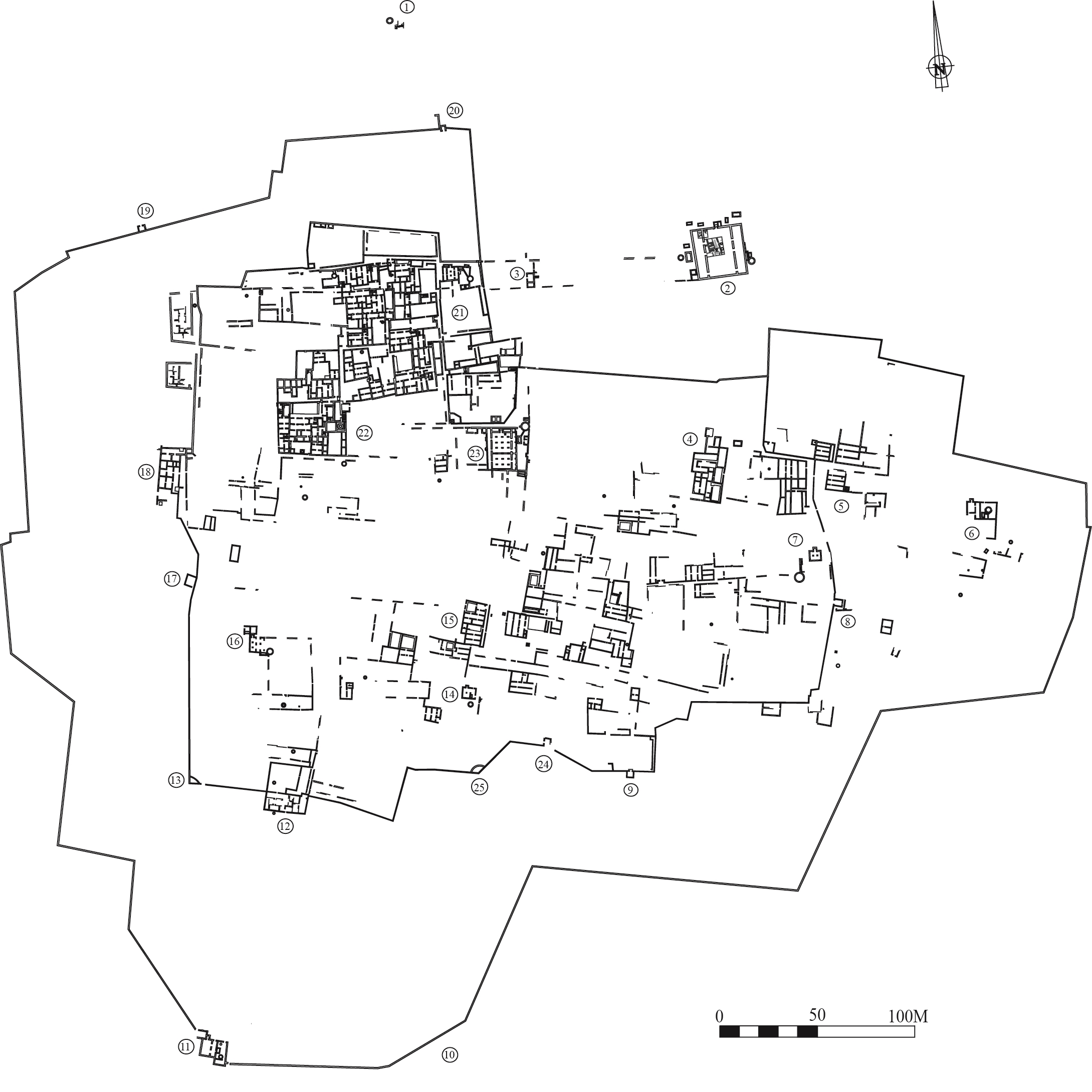 British archaeologist James Kirkman mapped the Gedi city plan after his excavations. (Source:  Swahili History and Archaeology )