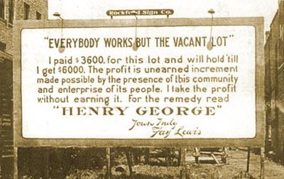 Henry George was a social reformer and advocate of land-based taxes (Source:  Henry George Institute ).