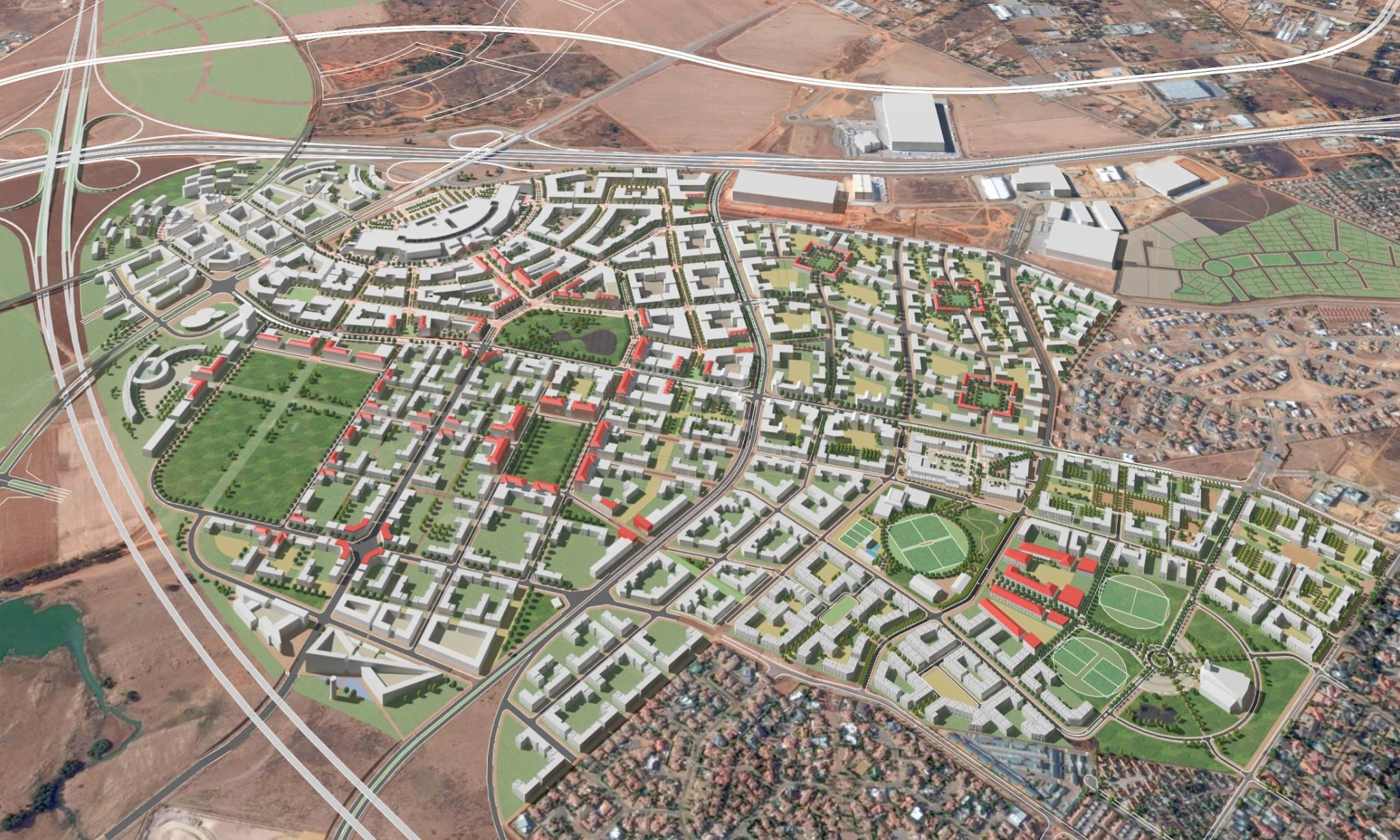 A number of local development plans, such as Riverfield (above), will be part of the Aerotropolis Master Plan. Source: City of Ekurhuleni (provided)