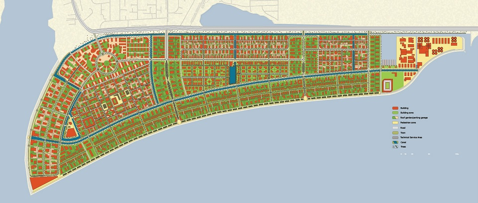 City centre expansion along Eko Atlantic masterplan completed by Royal Haskoning DHV for Lagos State. Source:  Royal Haskoning DHV
