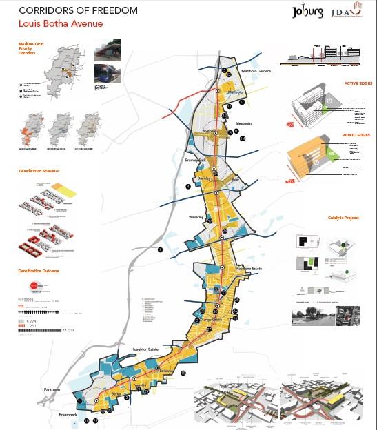 Louis Botha corridor. Source: City of Joburg