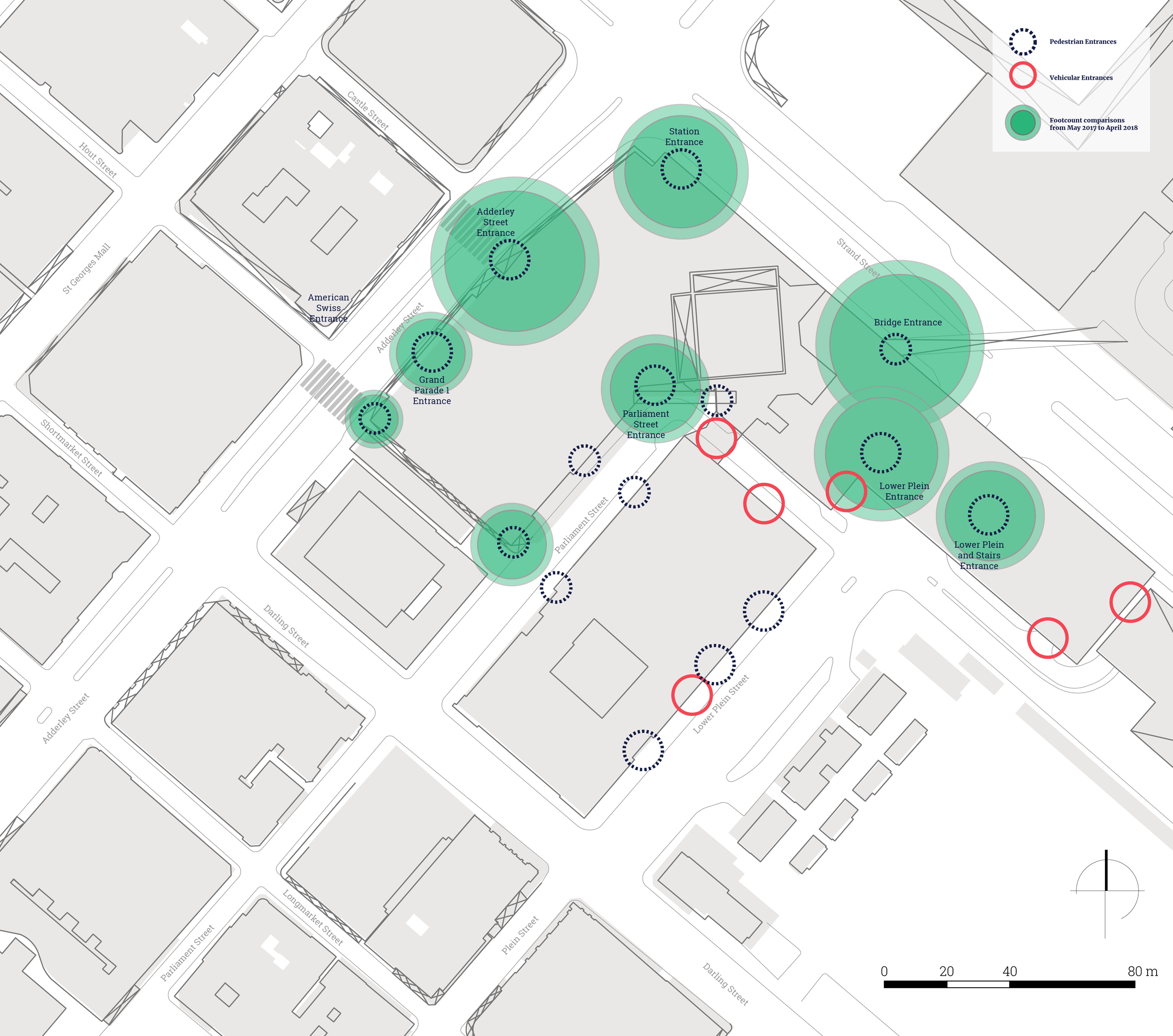 Spatial analysis of the precinct, Source: Janine Loubser, MoC Associate