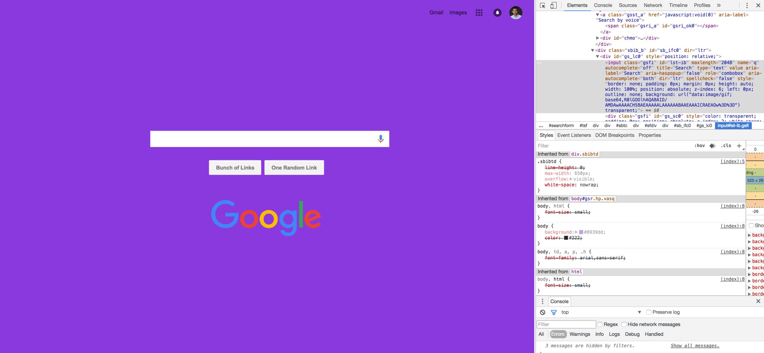 What if Google were purple?