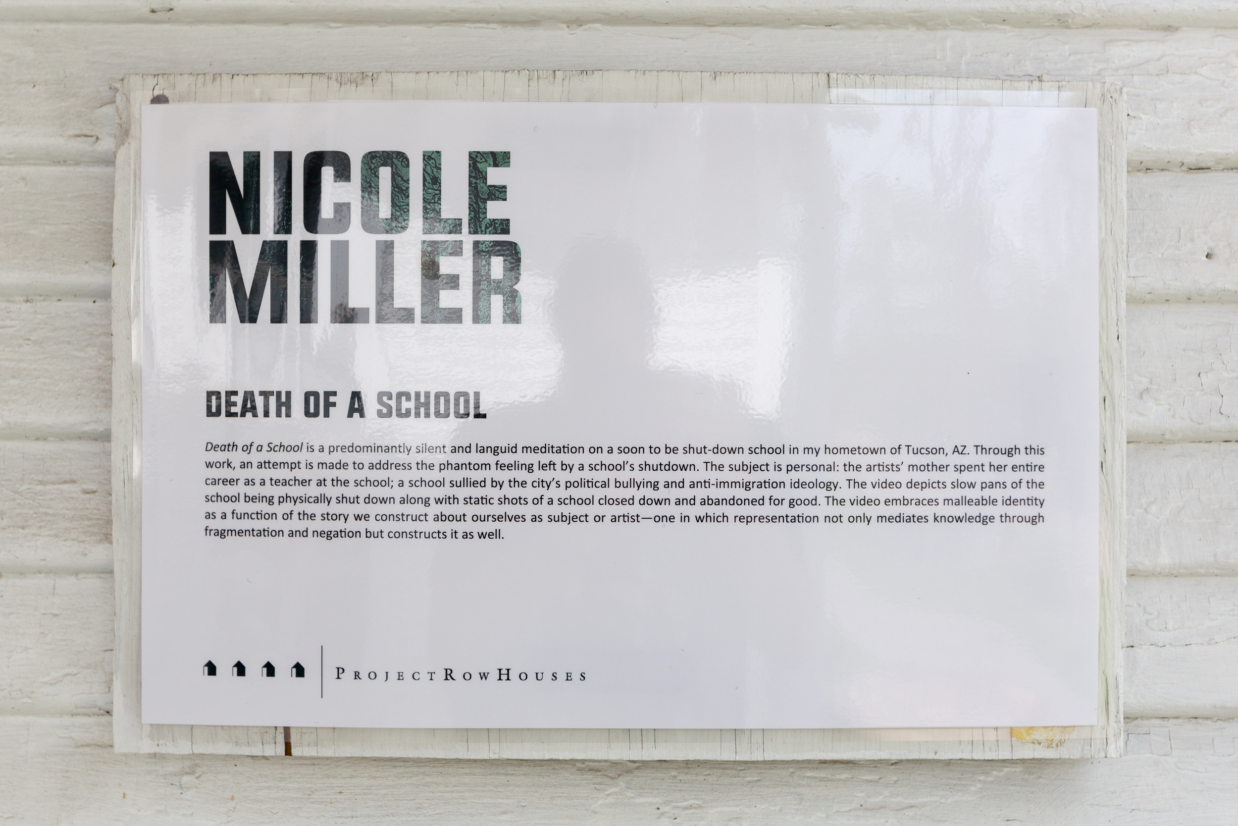 Nicole Miller, Death of a School