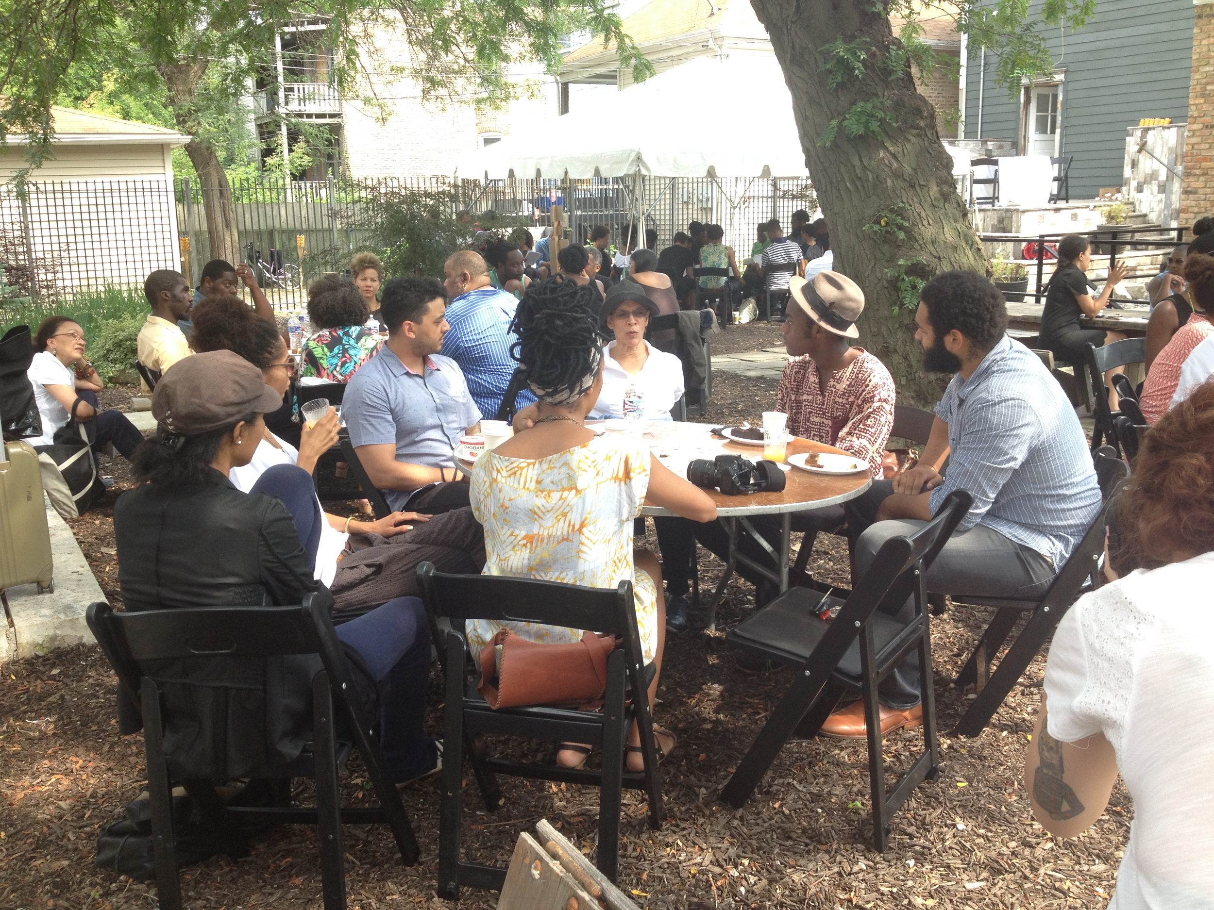 Black Lunch Table at Dorchester Projects's Black Artist Retreat, 2014.Photo courtesy the artists