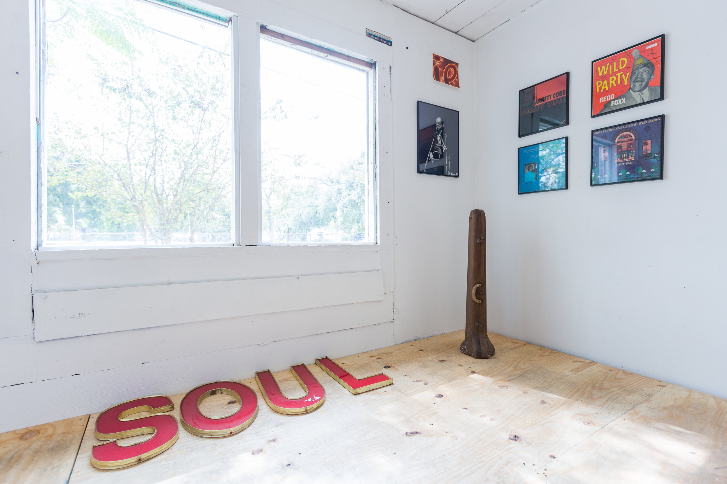 Installation shot of The Jazz Church of Houston, Tierney Malone. Photo by Alex Barber