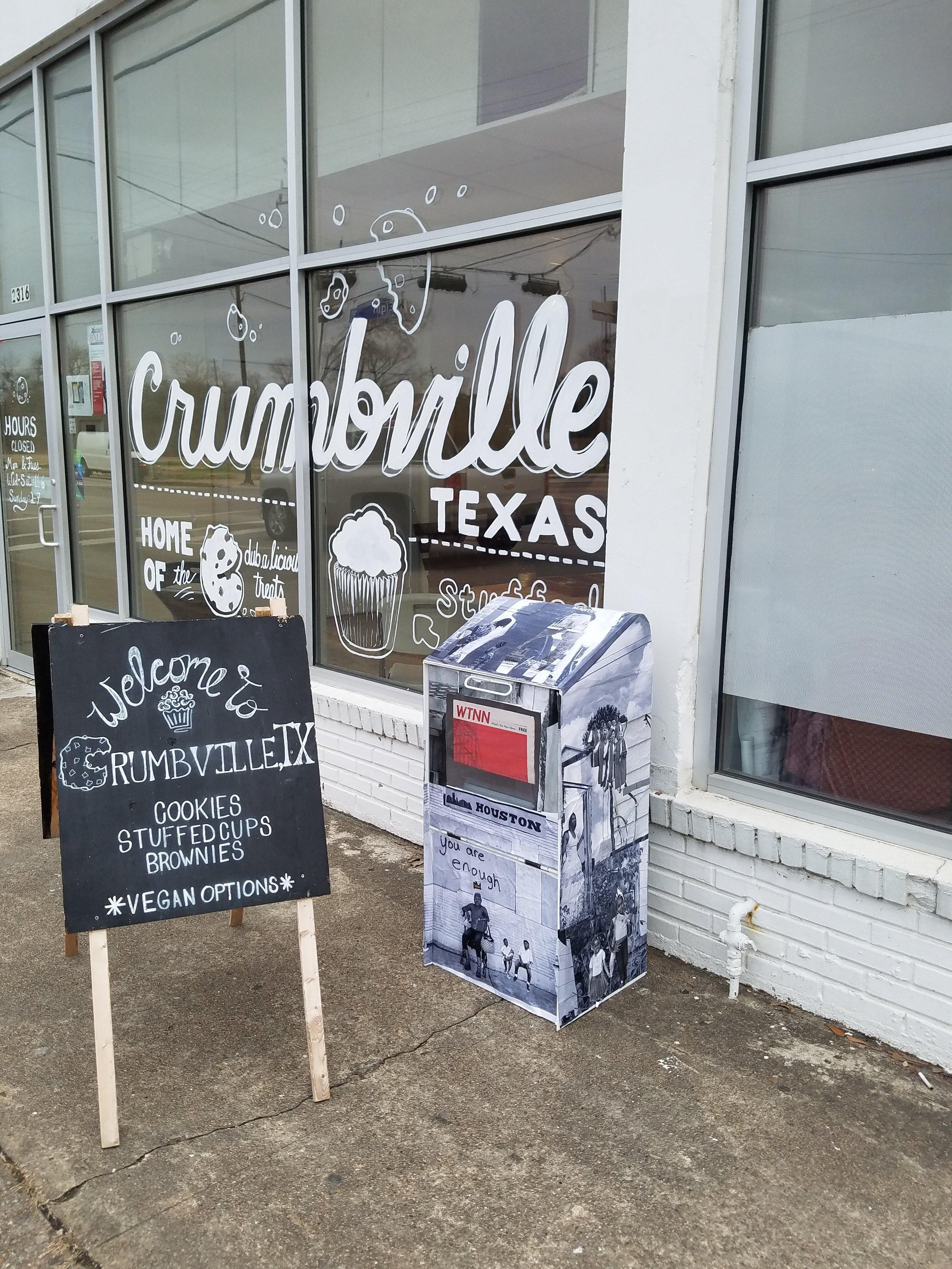 Brian Ellison's sculpture at Crumbville TX