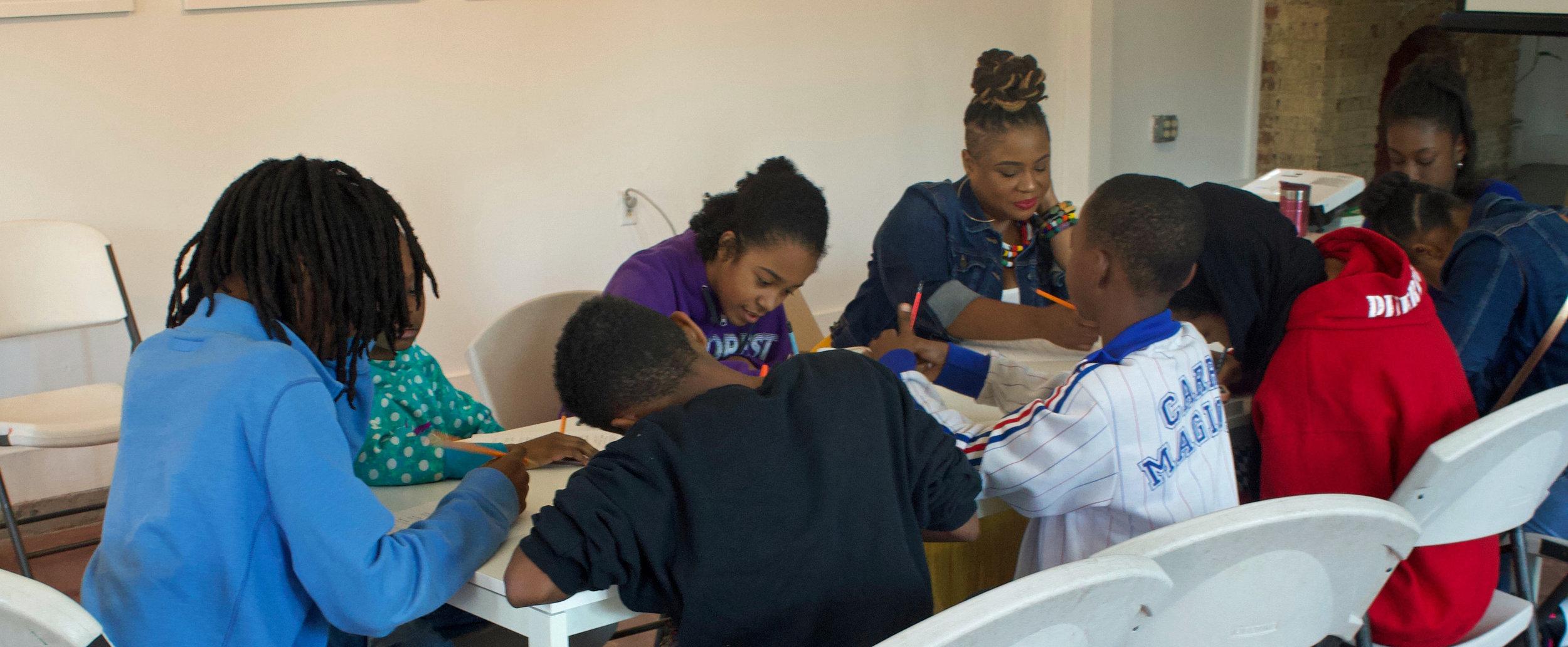 WTNN Literacy workshop led by Josie Pickens, Photo by Nathaniel Donnett