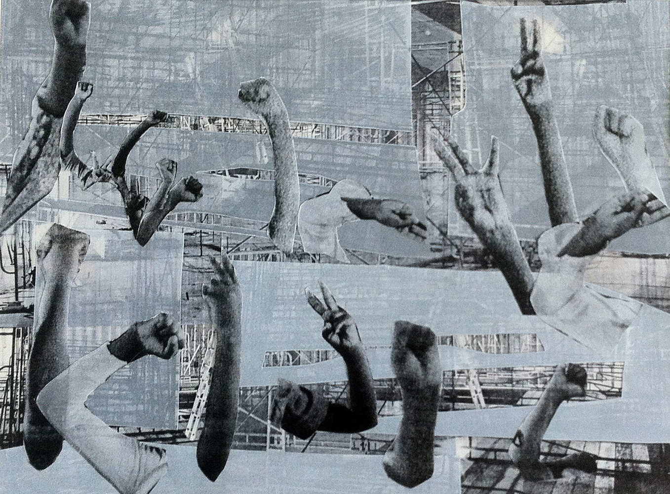 Regina Agu  Support , 2014 Laser print and collage on vellum 16 x 12 inches Courtesy of the artist Retail value $1,200