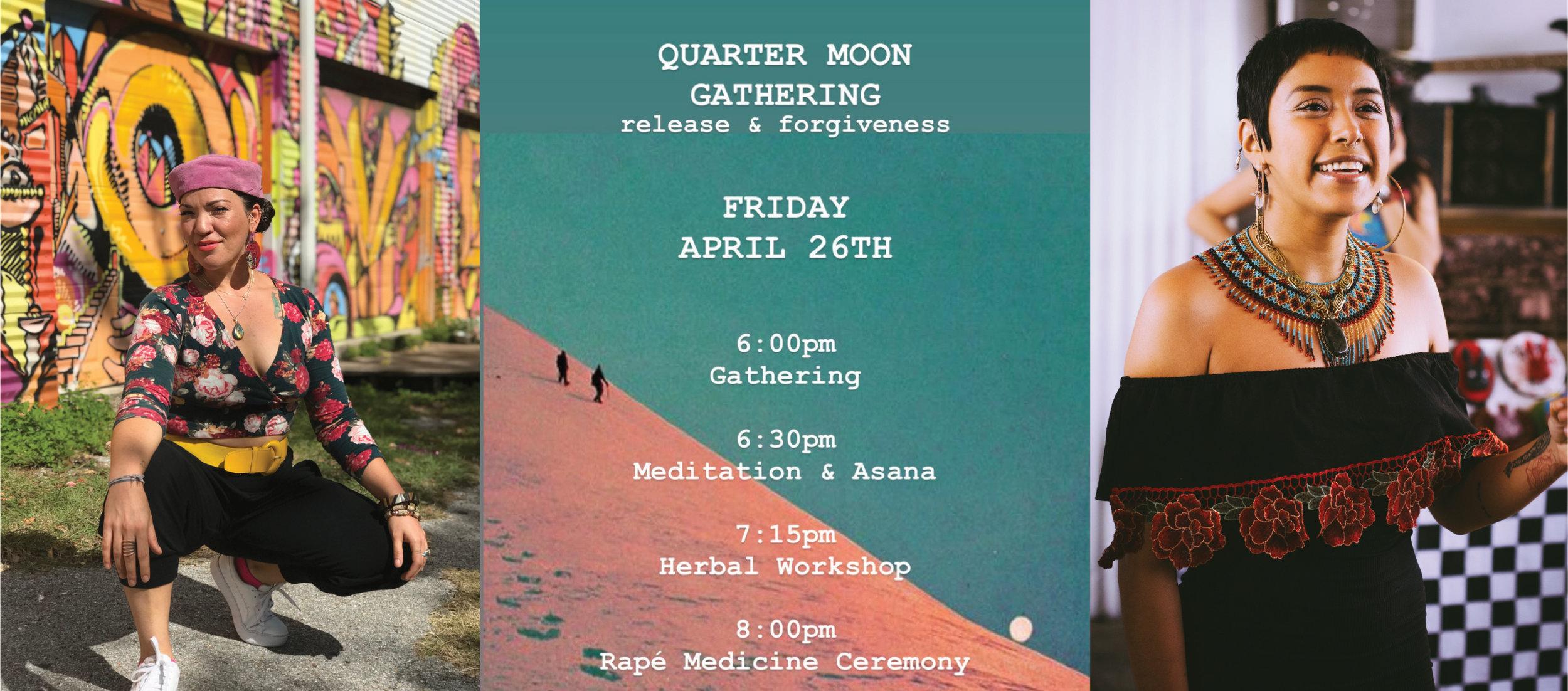 Moon Gathering Flyer courtesy Leticia Contreras.