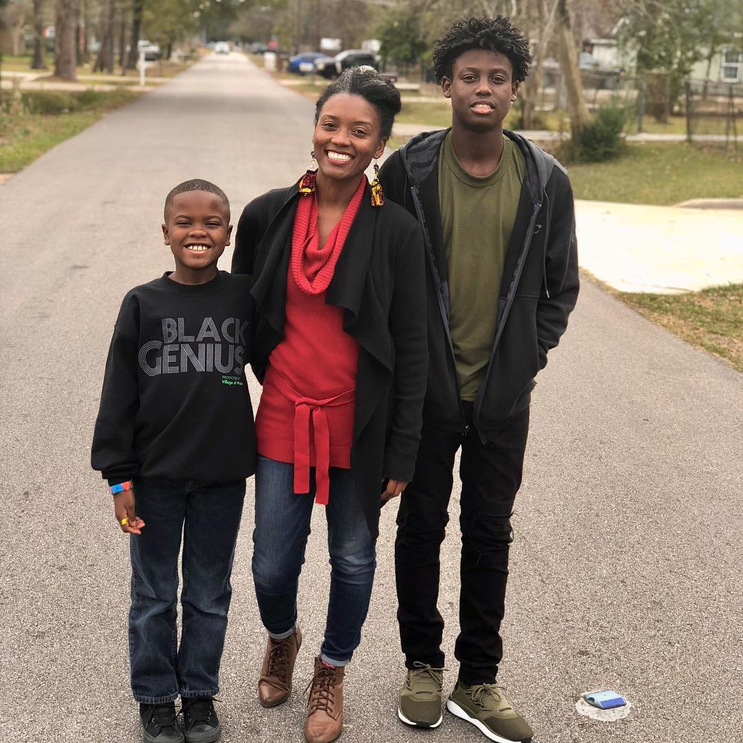Shannette and her sons Isaiah (right) and Cameron (left)