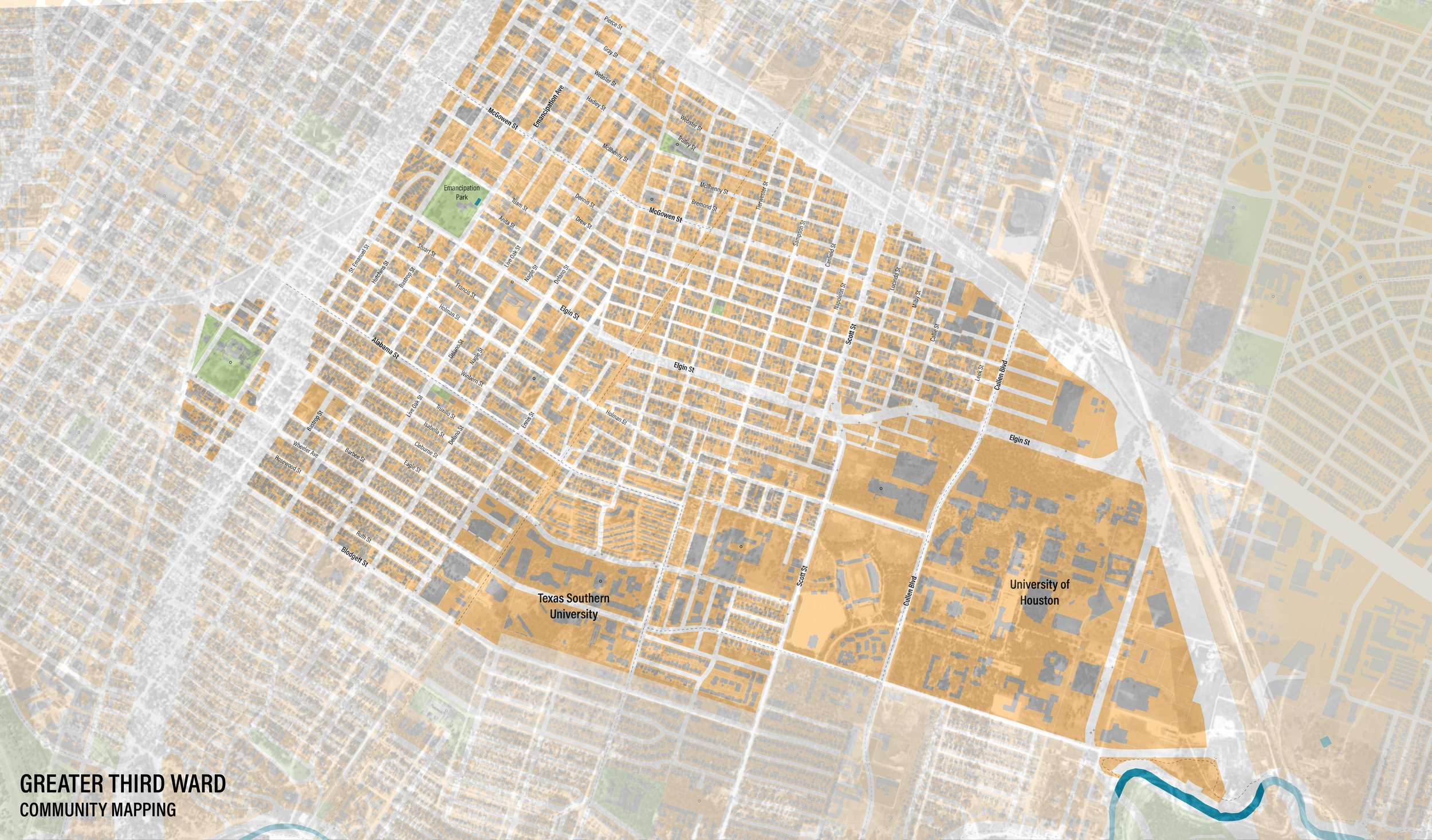"""Maps aren't static - boundaries change every year. Historic Third Ward 1944/2019"" – Libby"