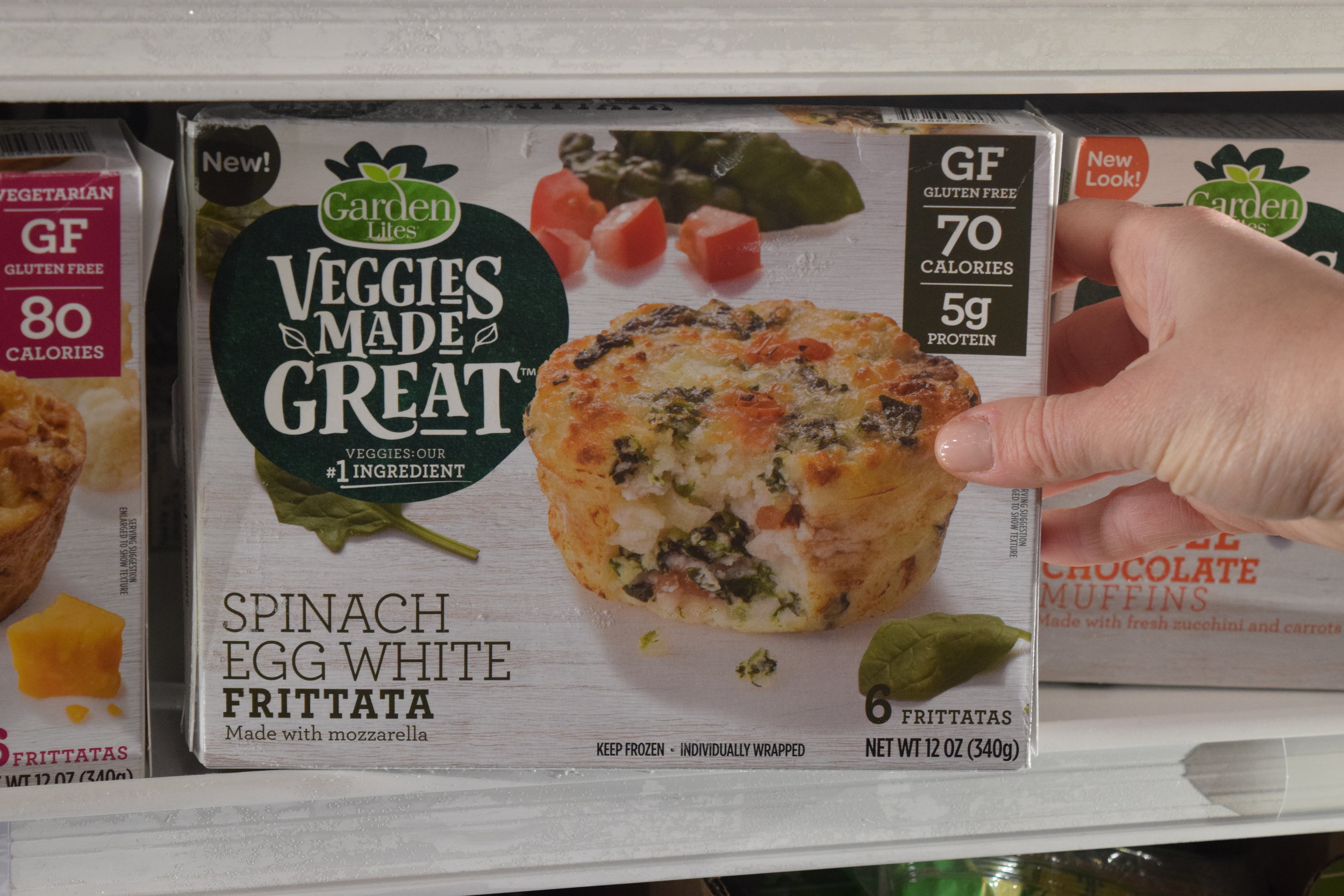 """""""I found the Spinach Egg White Frittatas in Stop and Shop. They are delicious."""" -"""