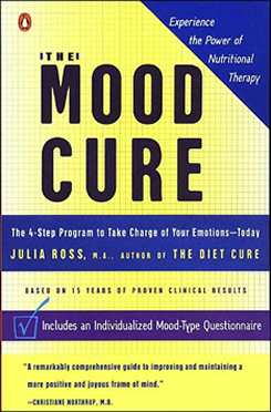 "The cover of the book ""The Mood Cure""."