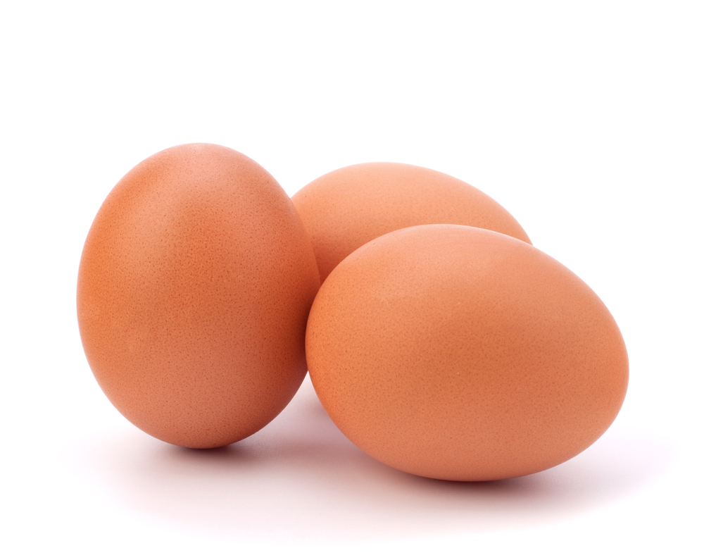 Three eggs. Sometimes people have an intolerance to eggs and it can contribute to symptoms of mental illness.