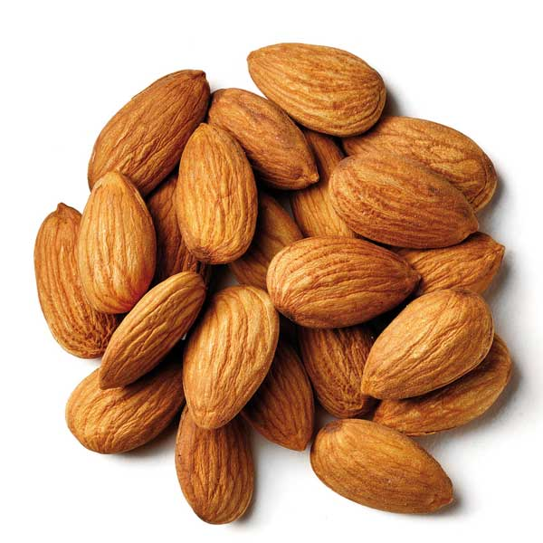 A handful of almonds. Almonds are an excellent source of Vitamin B2, a nutrient that is commonly depleted in people with depression.