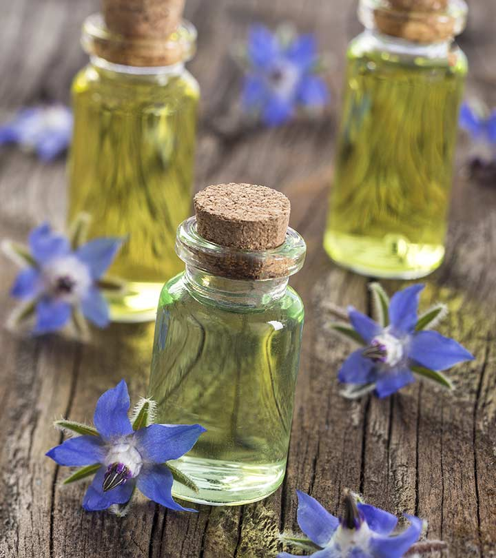 Vials of Borage Oil, a fat that is rich in DGLA. DGLA has anti-inflammatory effects and can help beat depression.