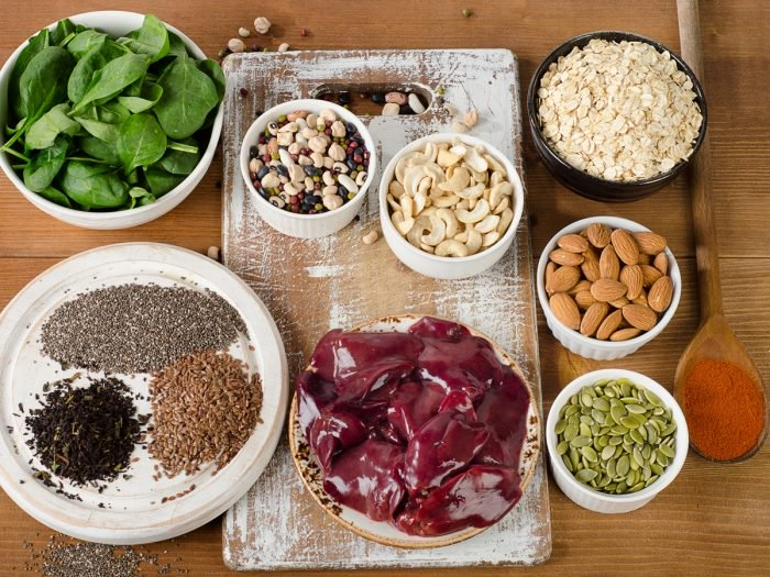 A table of foods that have high levels of manganese. Manganese deficiency can cause depression and make depression worse.