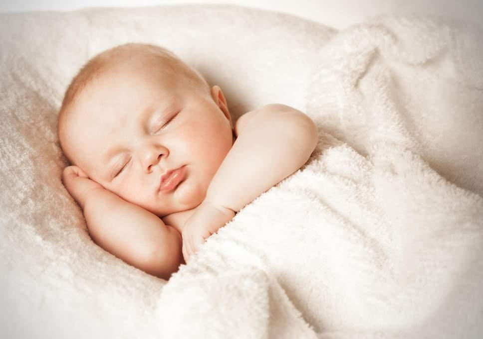 A baby sleeping. Sleep induces autophagy in the brain.
