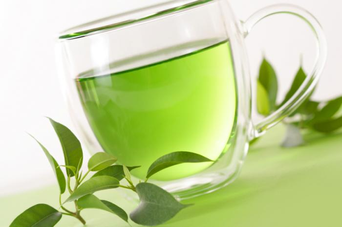 A cup of green tea. Theanine is found in green tea and has been shown to help reduce depression.