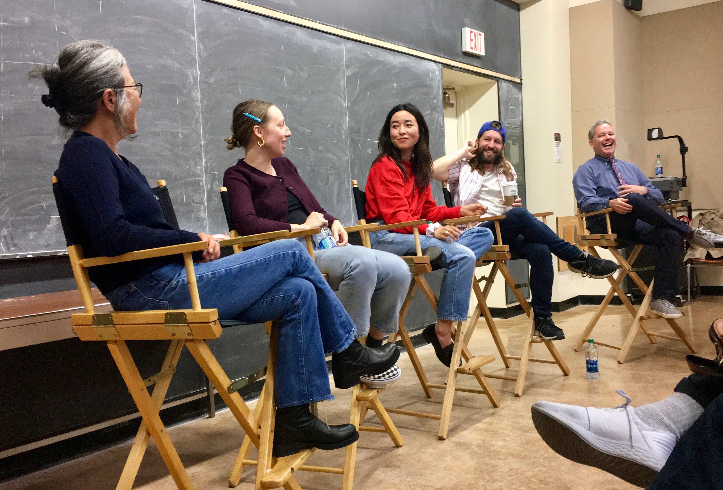 Moderating a UCLA panel with PEN15 creators Anna Konkle, Maya Erskine, Sam Zvibleman, and Maya's mom (on the show and IRL!) Mutsuko Erskine.
