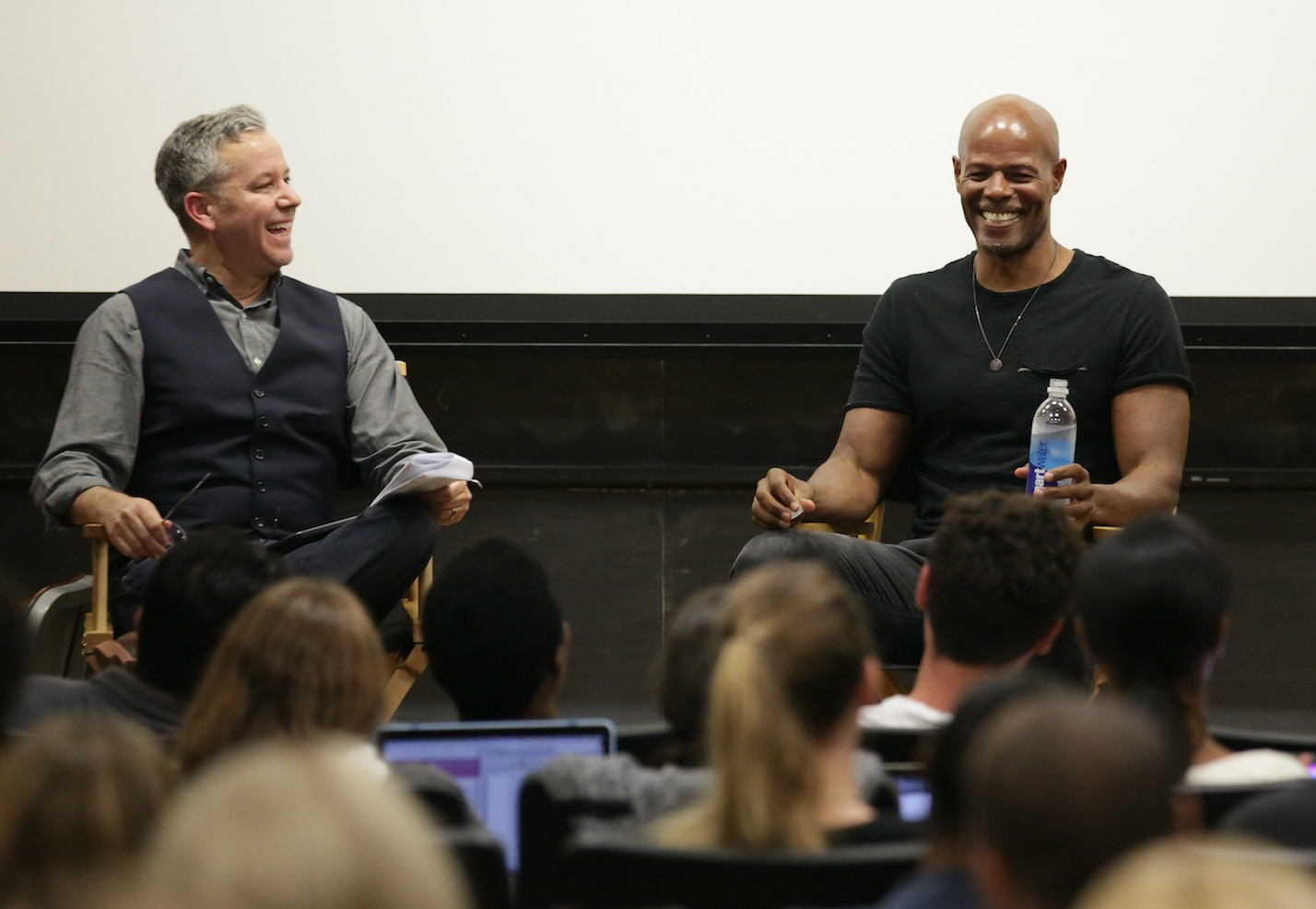 Interviewing trailblazing actor, comedian and filmmaker Keenen Ivory Wayans at UCLA.