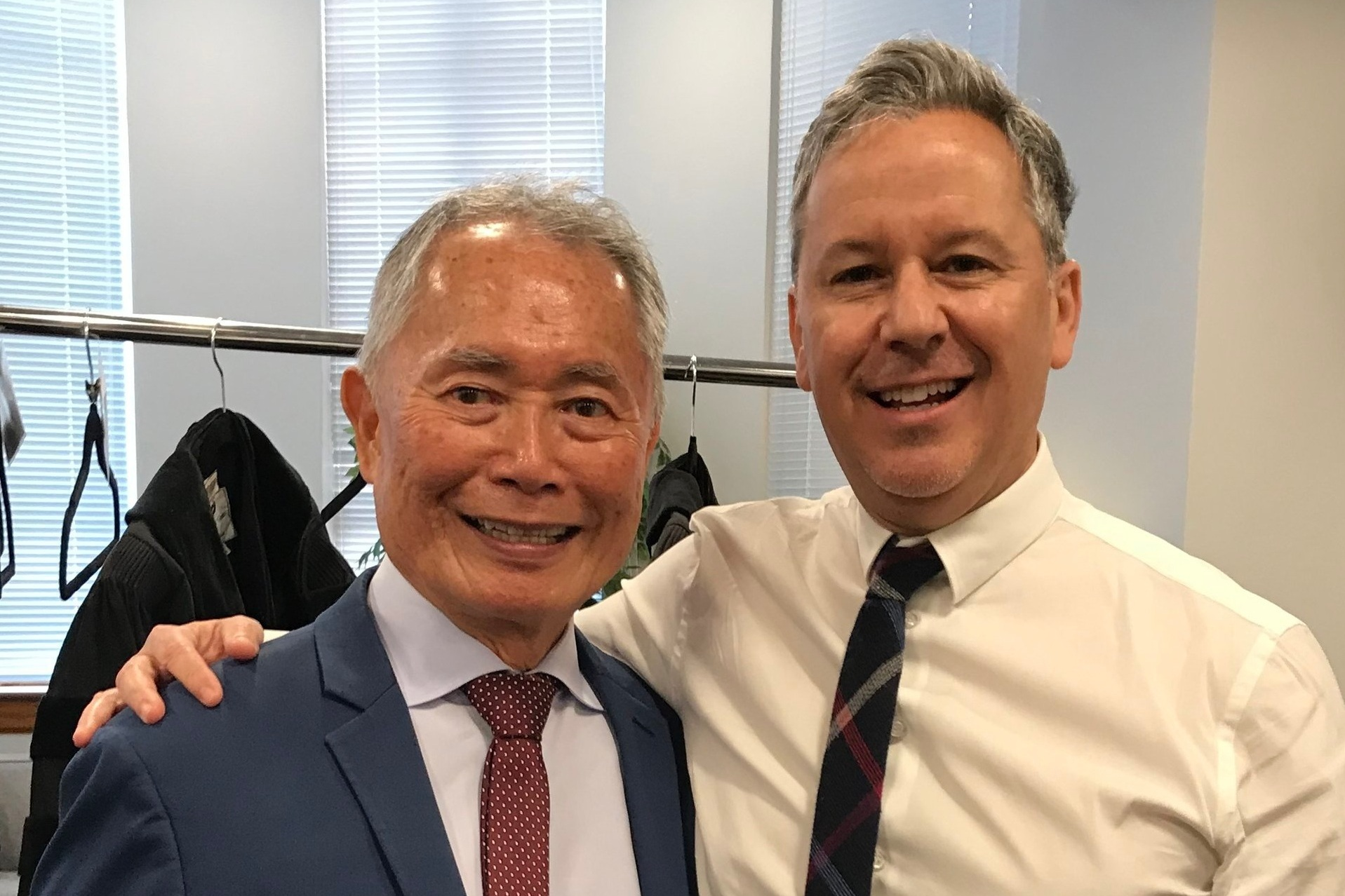 With actor and activist George Takei, recipient of the 2019 UCLA Film School Distinguished Alumni Award in Theater.