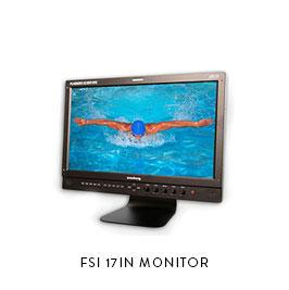 FSI 17IN MONITOR  Flander's Scientific CM171 17in SDI 50ft BNC, 25ft BNC, 25ft BNC Gold mount power plate