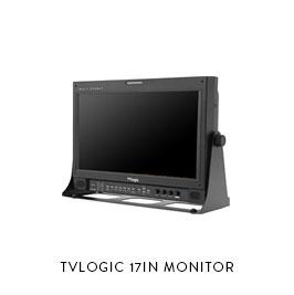 TVLOGIC 17IN MONITOR  Tvlogic 172W 17in SDI Monitor 50ft BNC, 25ft BNC, 25ft BNC