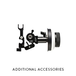 ADDITIONAL ACCESSORIES  MFF-2 Follow Focus DJI Wireless Focus Unit Red Rock shoulder rig Tripods / Monopods / Mounting hardware / etc.