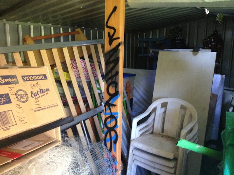 Sometime sellers will block access to areas of concern with stored goods - as it is a visual inspection, inspectors are now allowed to move stored goods