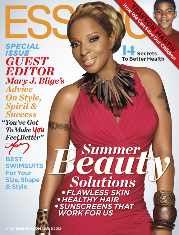 Mary J Blidge on the cover of Essence June 2012.