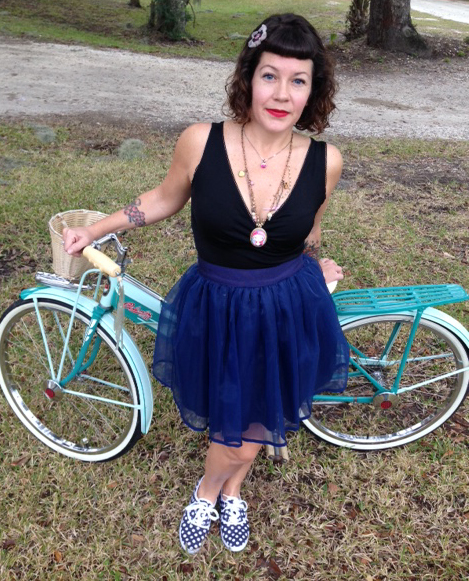 Tiffany and her trusty vintage Columbia