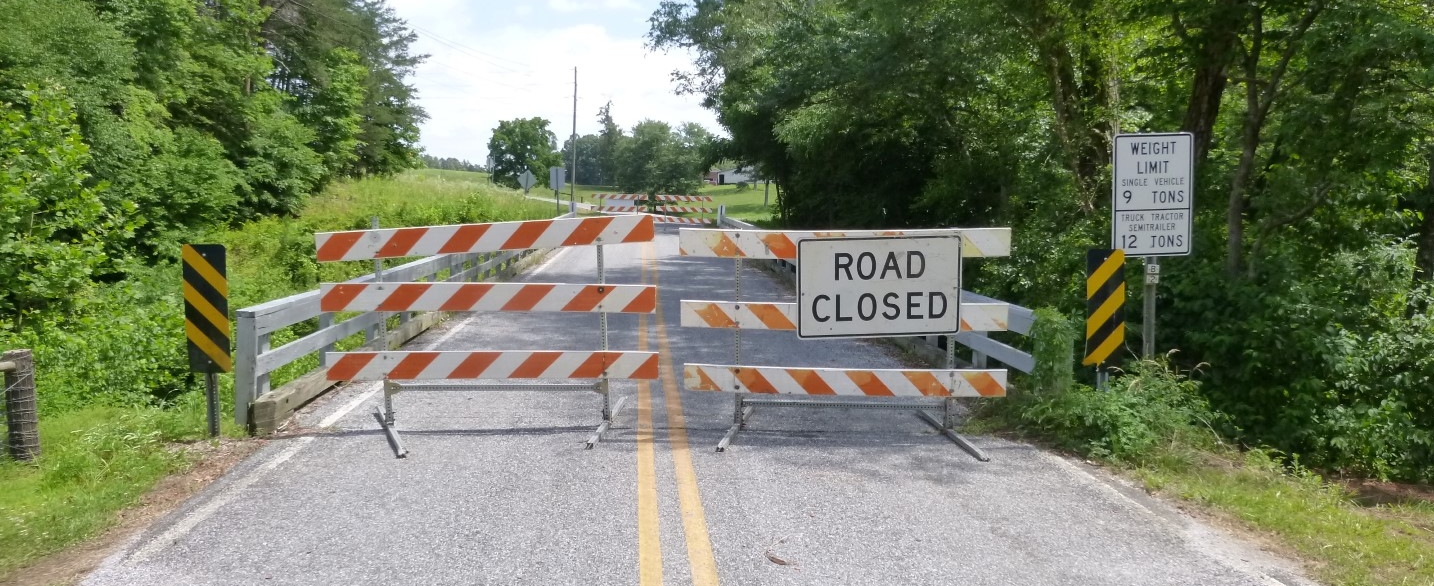 This bridge in Iredell County, along State Road 1863 over Rocky Creek, was closed earlier this year because of structural problems that made it unsafe.