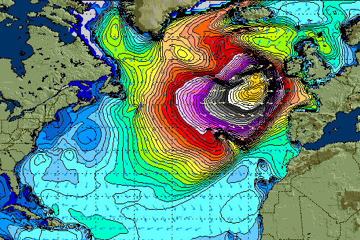 'Hercules' storm of 2014 creating titans // photo. StormSurfing.com