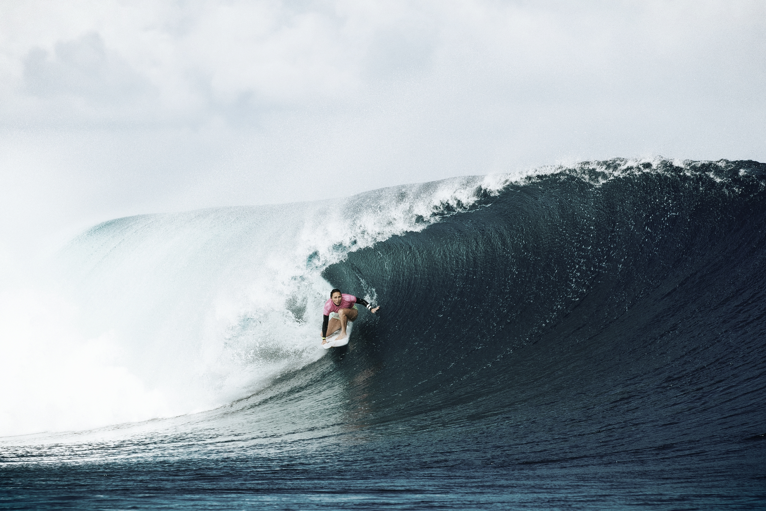 Carissa Moore shredding like a boss during the Fiji event of the WSL tour // photo. WSL/Sloane