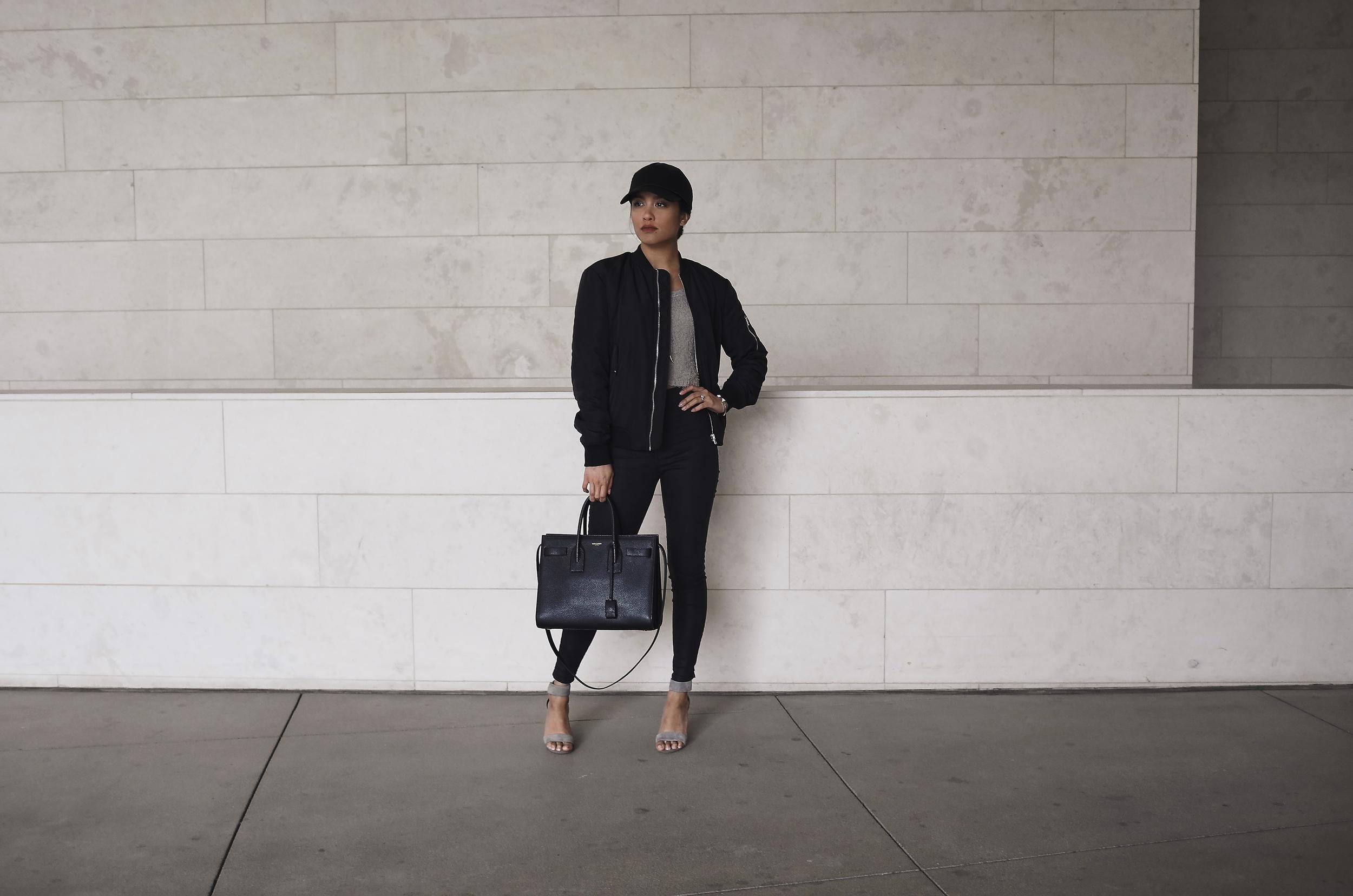 zara bomber (  s.  )| minkpink top (  s.  ) | topshop   jeans   | j.campbell   heels   | UO   cap   |ysl   bag   | j.storm   necklace                             photos shot by    michael alvarado    & edited by    sean martin