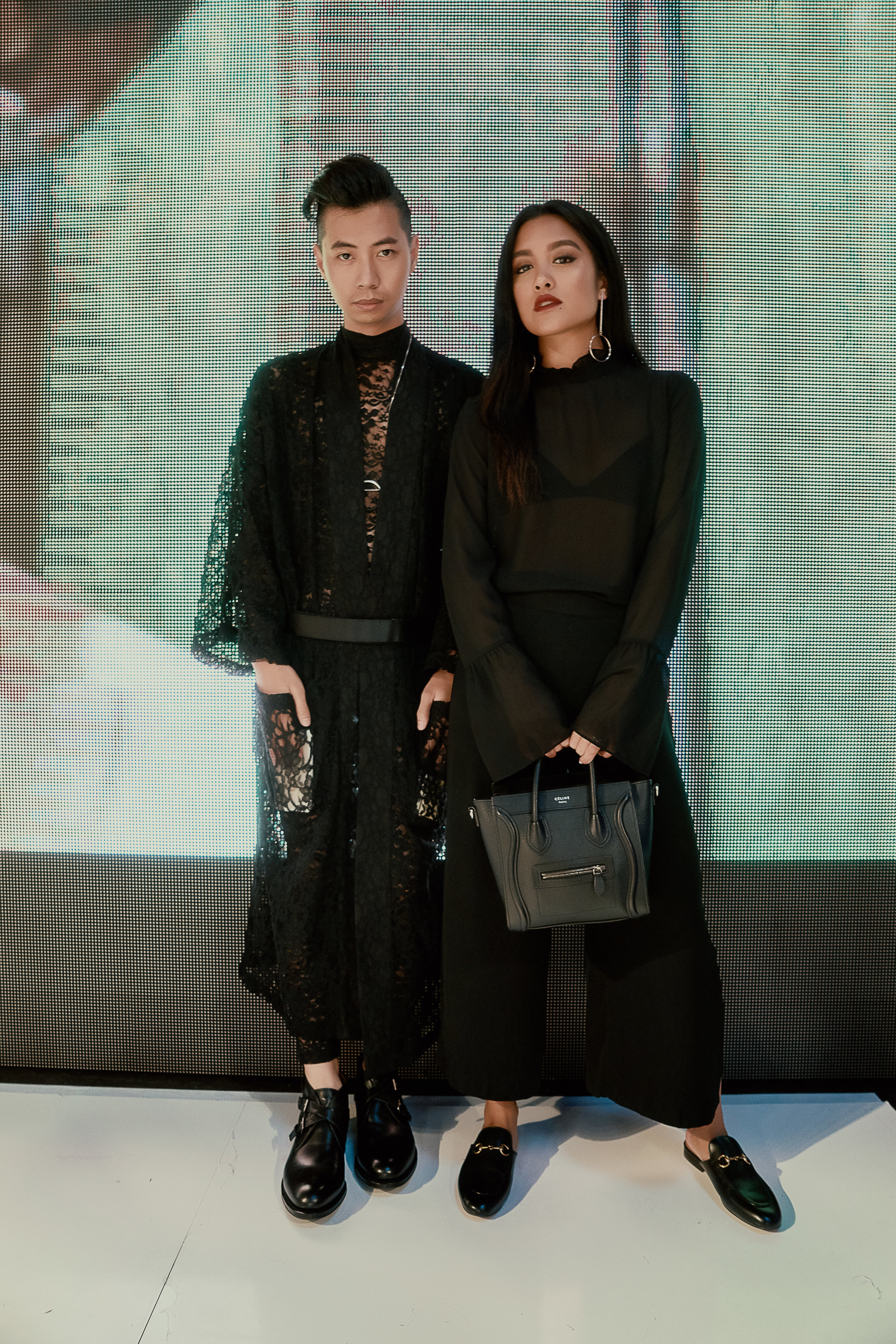 Striking a pose on the runway with My Belonging's Tommy Lei.