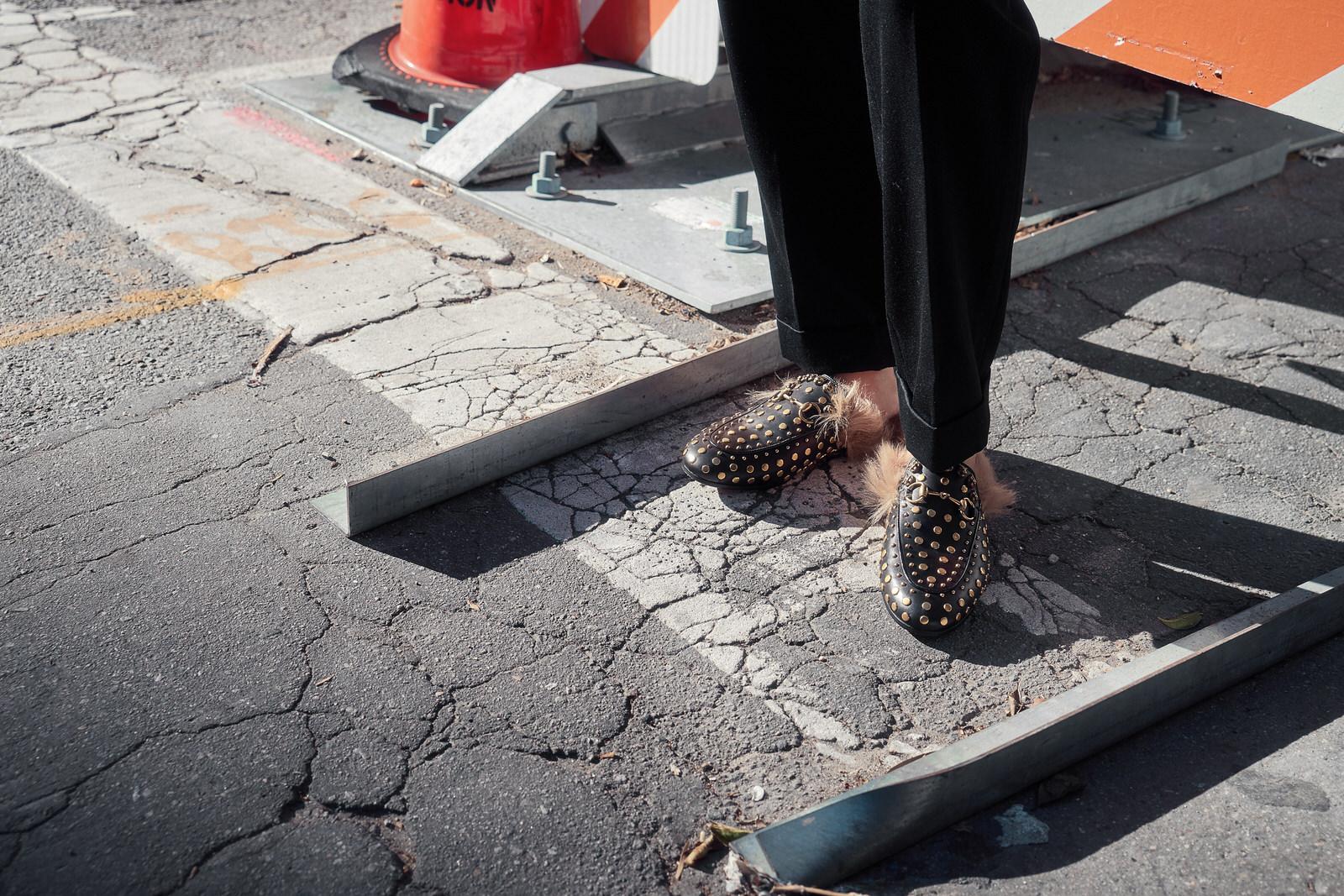 vintage kenzo blazer | alexander mcqueen trousers |  gucci slippers  |  photos by sean martin