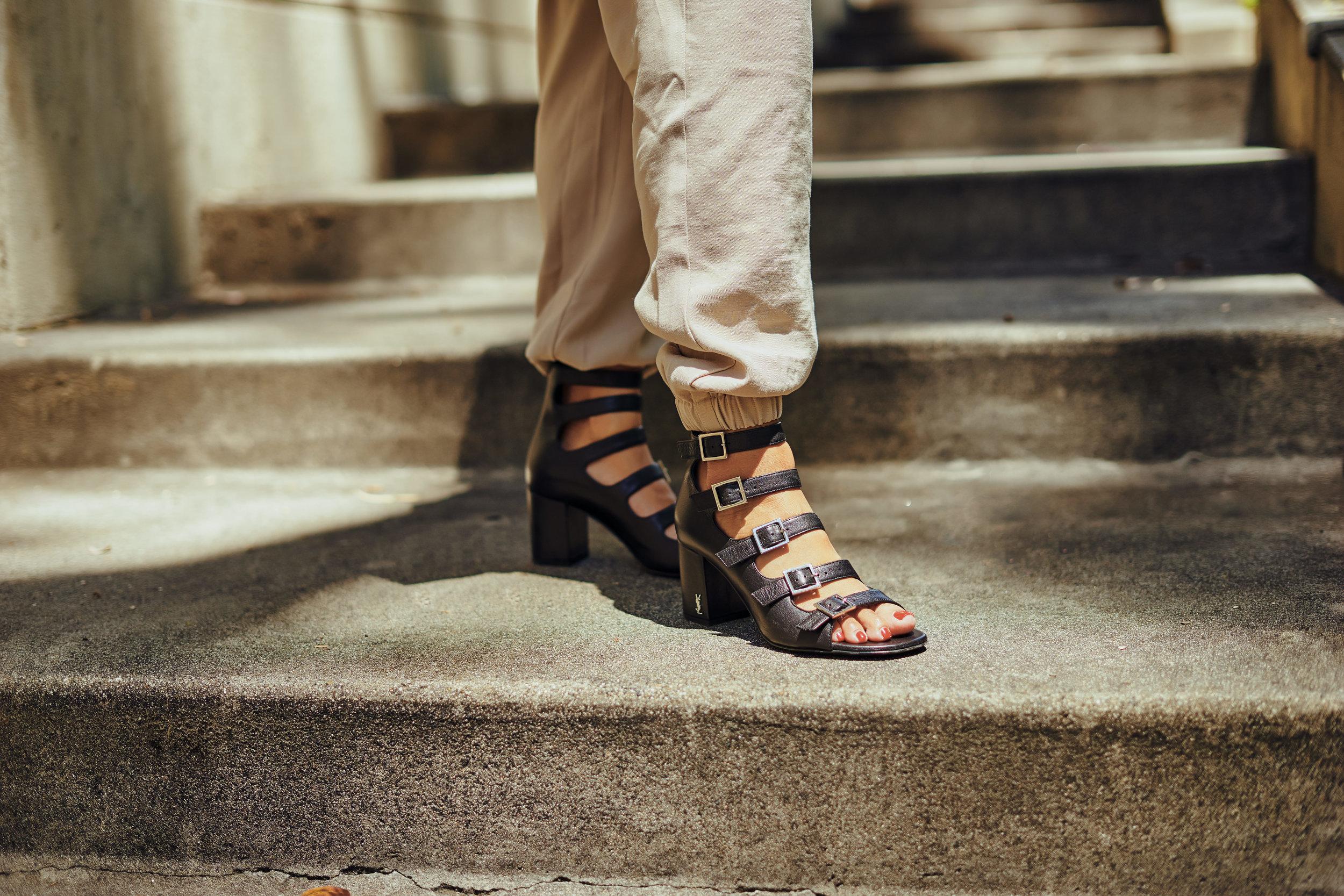 L'Academie jumpsuit  |  bonnie clyde shades  | ysl heels |  photos by sean martin