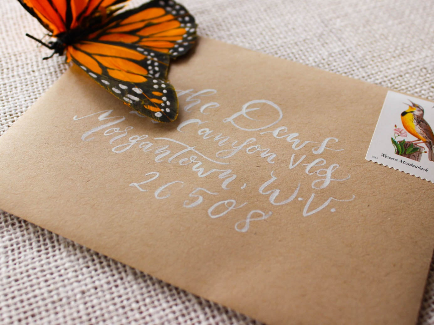 wedding envelope calligraphy hand addressed invitation