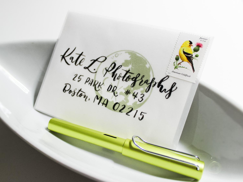 hand addressed envelope calligraphy by hey bernadette