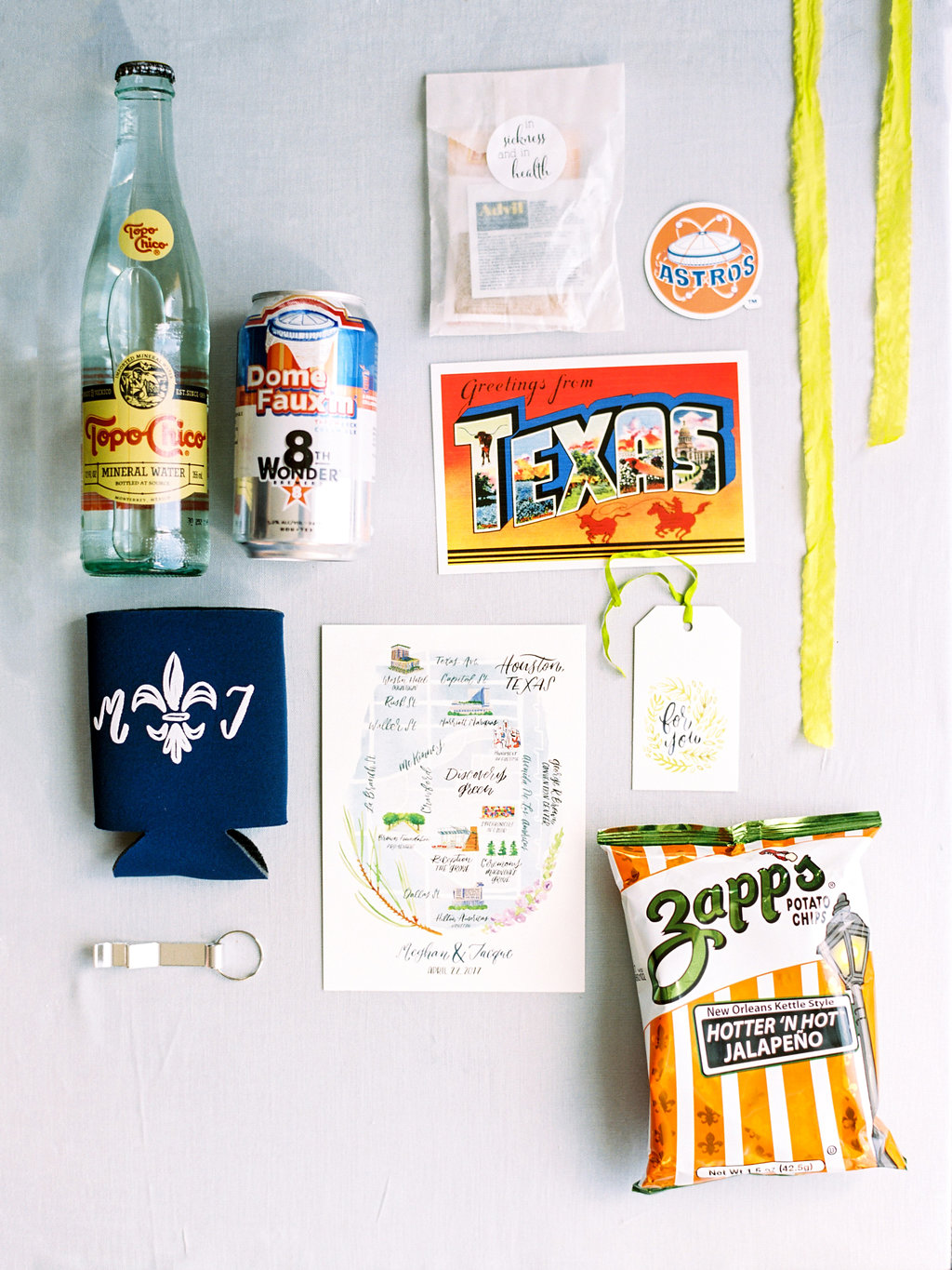 calligraphy guest welcome bag