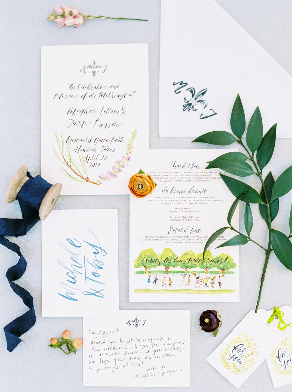wedding second line illustration in program