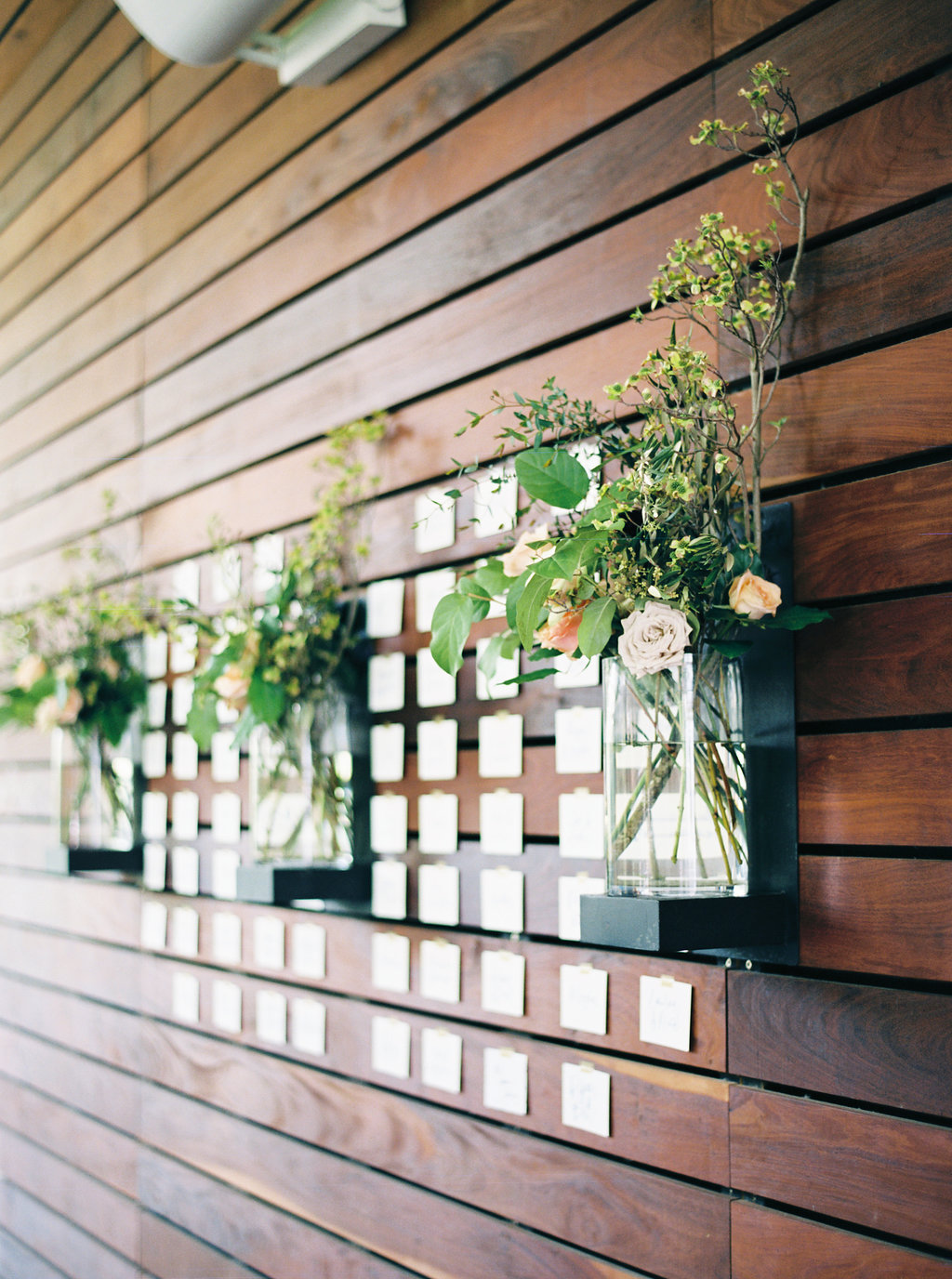 escort cards on the wall