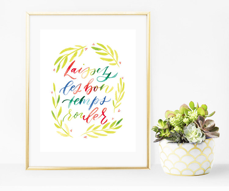 You can even purchase my Laissez les bon temps rouler (let the good times roll) print for yourself  in my Etsy shop !I loved it so much I added it to my shop!