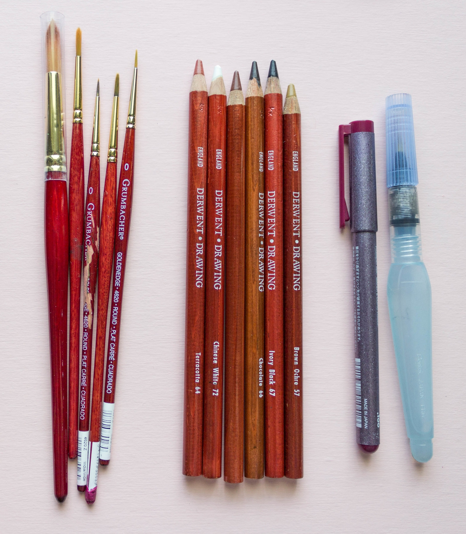 favorite brushes for travel painting