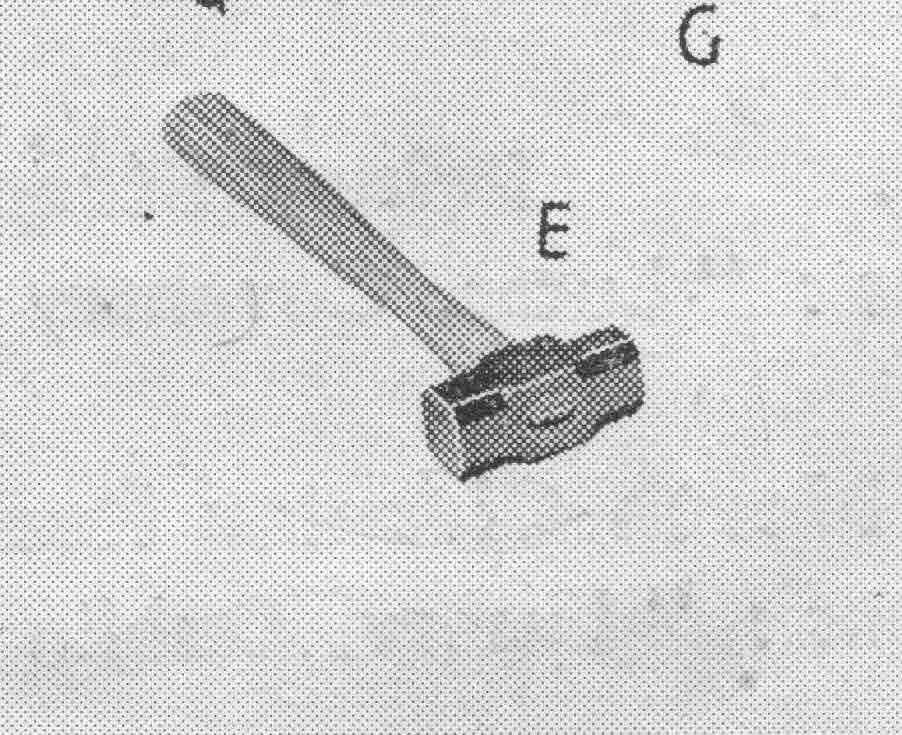 Hammer as shown in the original MG P Type manual